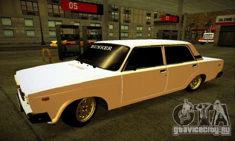 ВАЗ 2107 BUNKER для GTA San Andreas вид слева