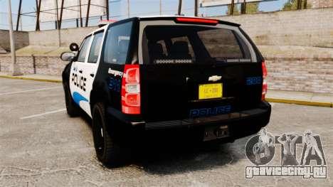 Chevrolet Tahoe Police [ELS] для GTA 4 вид сзади слева