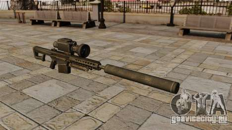 Снайперская винтовка Barrett M82А1 с глушителем для GTA 4