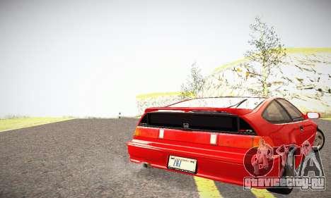 Honda CRX - Stock для GTA San Andreas вид сзади слева