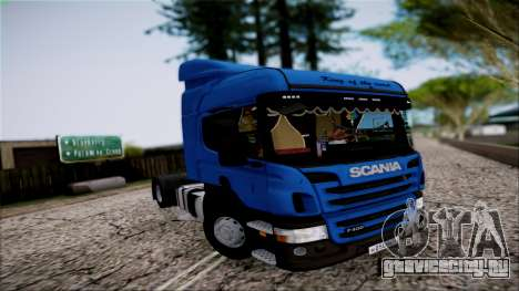 Scania P400 для GTA San Andreas вид изнутри