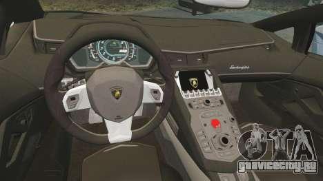 Lamborghini Aventador LP760-4 Oakley Edition v2 для GTA 4 вид изнутри