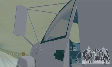 GMC C550 Topkick Trashmaster для GTA San Andreas вид изнутри