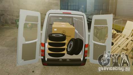 Mercedes-Benz Sprinter 2500 2011 v1.4 для GTA 4 вид снизу