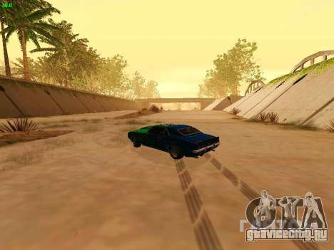Chevrolet Camaro z28 Falken edition для GTA San Andreas вид изнутри