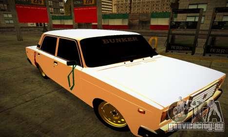 ВАЗ 2107 BUNKER для GTA San Andreas вид сзади