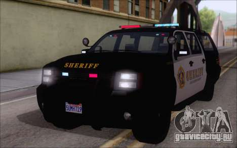 Полицейский джип из GTA V для GTA San Andreas