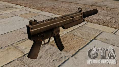 Пистолет-пулемёт MP5 с глушителем для GTA 4