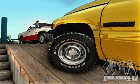 Dodge Ram 2500 для GTA San Andreas вид сверху