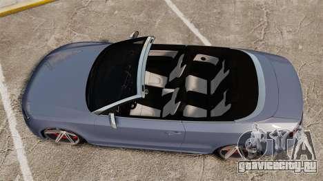 Audi S5 Convertible 2012 для GTA 4 вид справа