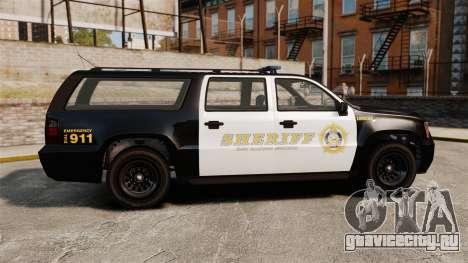 GTA V Declasse Granger Sheriff для GTA 4 вид слева