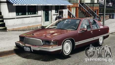 Buick Roadmaster 1996 для GTA 4 вид слева