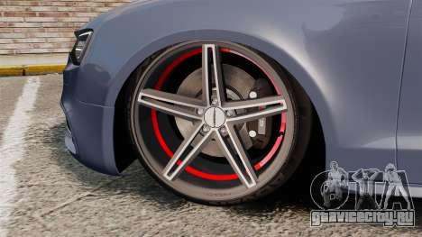 Audi S5 Convertible 2012 для GTA 4 вид изнутри