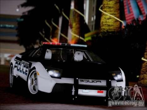 Lamborghini Murciélago Police 2005 для GTA San Andreas вид справа