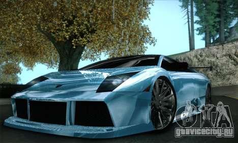 Lamborghini Murcielago GT Coloured для GTA San Andreas вид снизу