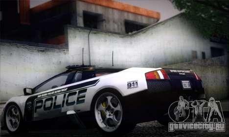 Lamborghini Murciélago Police 2005 для GTA San Andreas вид слева