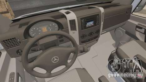 Mercedes-Benz Sprinter 2500 2011 v1.4 для GTA 4 вид сзади