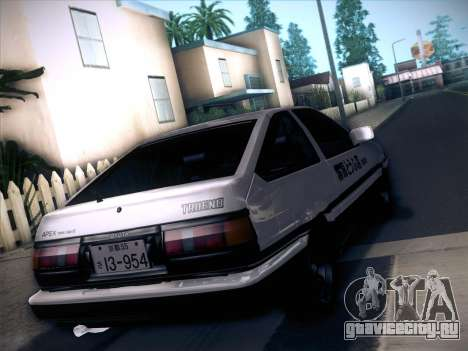 Toyota Trueno AE86 Initial D 4th Stage для GTA San Andreas вид слева