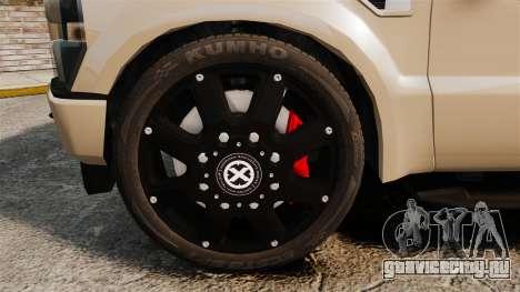 Ford F-350 Pitbull для GTA 4 вид сзади
