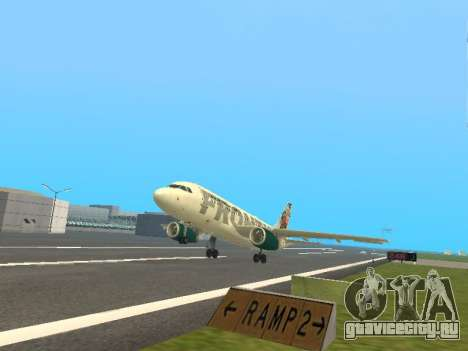 Airbus A319-111 Frontier Airlines Red Foxy для GTA San Andreas вид сверху