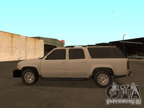 Chevrolet Suburban ATTF для GTA San Andreas вид слева