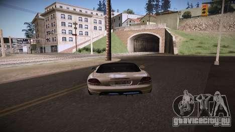 Dodge Viper SRT-10 Roadster для GTA San Andreas вид сзади слева