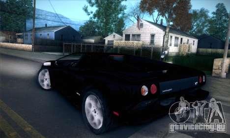 Lamborghini Diablo VT6.0 для GTA San Andreas вид сзади