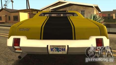 Sabre HD from GTA 3 для GTA San Andreas вид справа