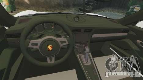 Porsche 911 GT3 (991) 2013 для GTA 4 вид изнутри