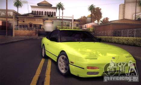 Nissan 240SX 1991 Tunnable для GTA San Andreas салон