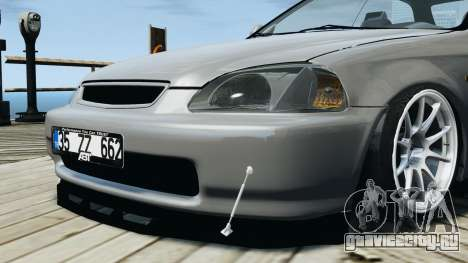 Honda Civic 1.6i ES для GTA 4 вид сзади