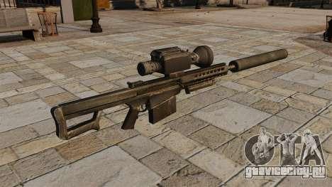 Снайперская винтовка Barrett M82А1 с глушителем для GTA 4 второй скриншот