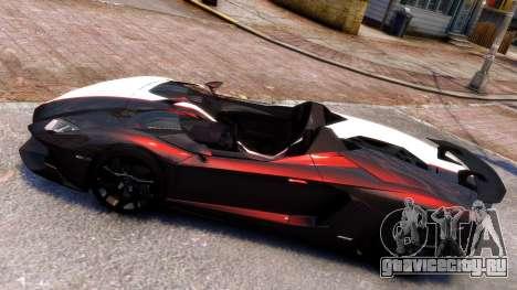 Lamborghini Aventador J 2012 Carbon для GTA 4 вид слева