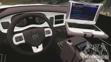 Dodge Charger 2012 NYPD [ELS] для GTA 4 вид сзади