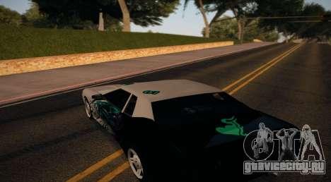 Vinyl for Elegy для GTA San Andreas вид сзади слева