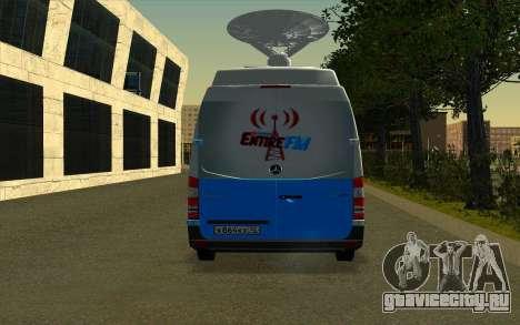 Mercedes Sprinter Entire FM для GTA San Andreas вид справа