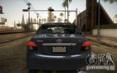 Toyota Vios 2008 для GTA San Andreas вид сзади слева