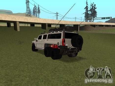 Hummer H3 6x6 для GTA San Andreas вид сзади слева