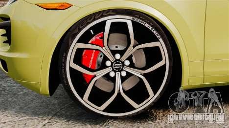 Porsche Cayenne 2012 SR для GTA 4 вид сзади