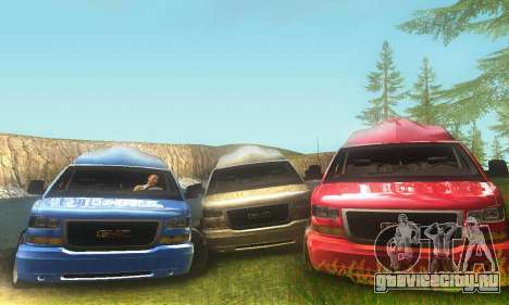 GMC Savana для GTA San Andreas вид слева