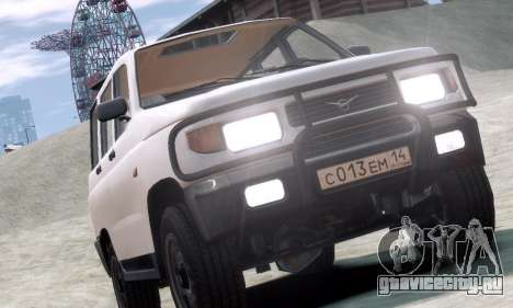 УАЗ 3160 для GTA 4 вид изнутри