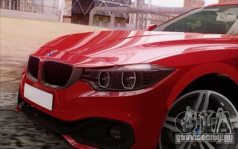 BMW 435i для GTA San Andreas вид сзади