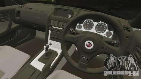 Nissan Skyline GT-R V-Spec II Mk.X [R34] для GTA 4 вид изнутри