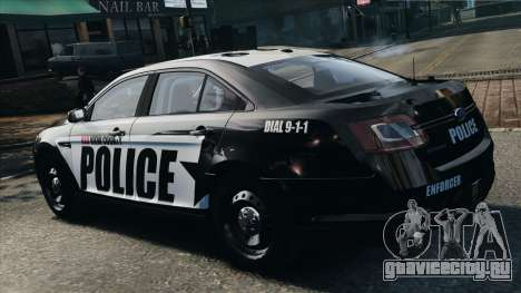 Ford Taurus Police Interceptor 2010 для GTA 4 вид слева