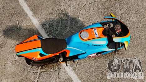 Ducati 848 Gulf для GTA 4 вид сзади слева