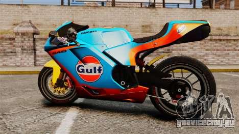 Ducati 848 Gulf для GTA 4 вид справа
