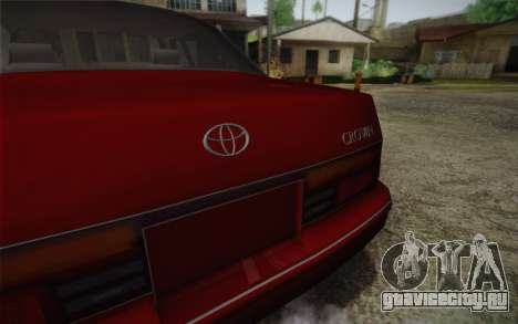 Toyota Crown Royal saloon g 3.0 для GTA San Andreas вид сзади