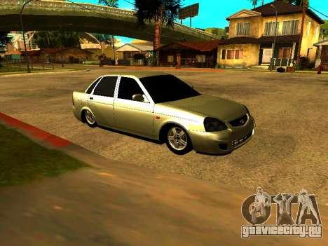 Lada 2170 Priora Gold для GTA San Andreas