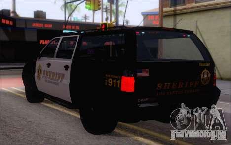 Полицейский джип из GTA V для GTA San Andreas вид слева