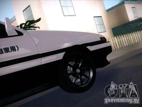 Toyota Trueno AE86 Initial D 4th Stage для GTA San Andreas вид сзади слева